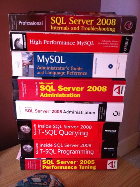 sql server books mysql books