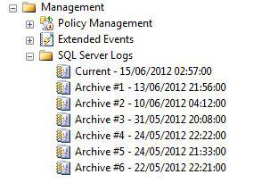 sql server error log