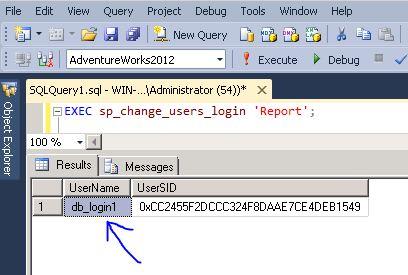 sp_change_users_login report