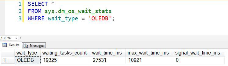 reduce oledb wait type