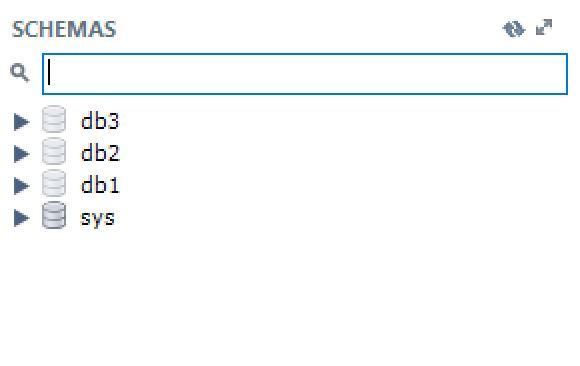 mysql list schemas