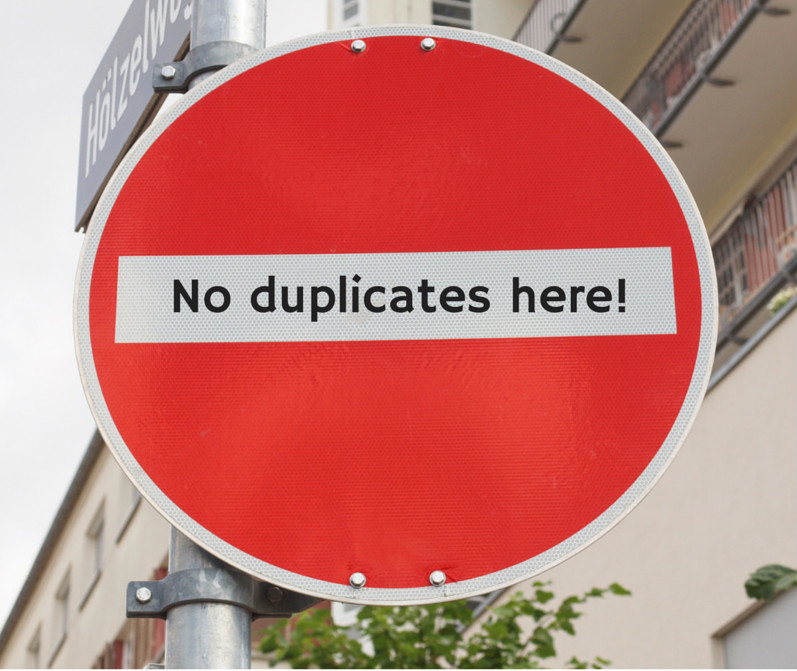 find and remove duplicate data