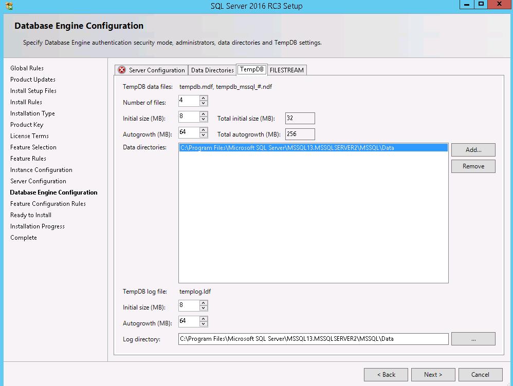 New Feature of SQL Server 2016 configure multiple tempdb files