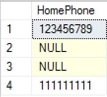 SQL ISNULL example before