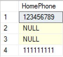 SQL ISNULL example before